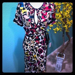DVF Chiquita Mosaic Barcelona print dress 8